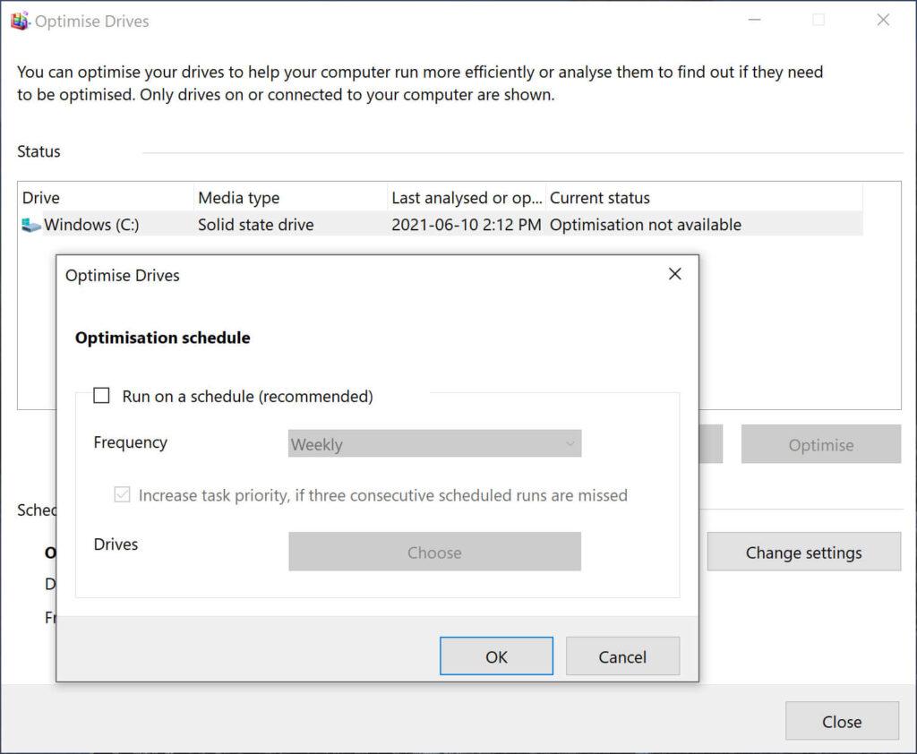 hard drive ssd defragmentation